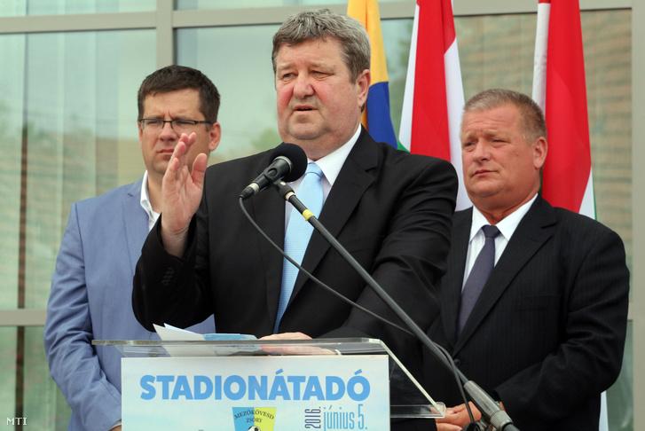Tállai András a mezőkövesdi stadion avatóján