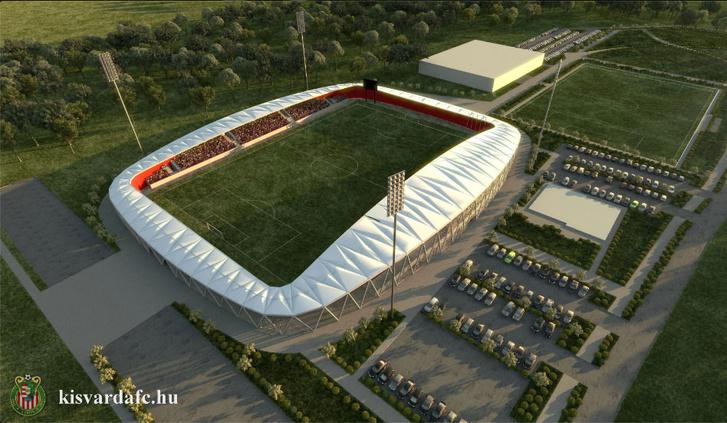 A kisvárdai stadion látványterve