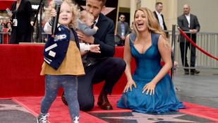 Ryan Reynolds csillagot kapott, de lánya hisztije sokkal érdekesebb