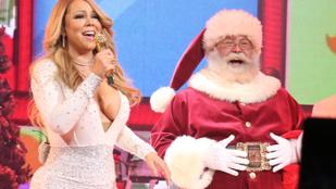 Mariah Carey aztán mindent beleadott a karácsonyi koncertjébe