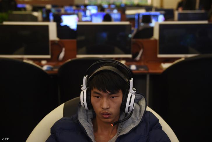 Internetkávézó Pekingben