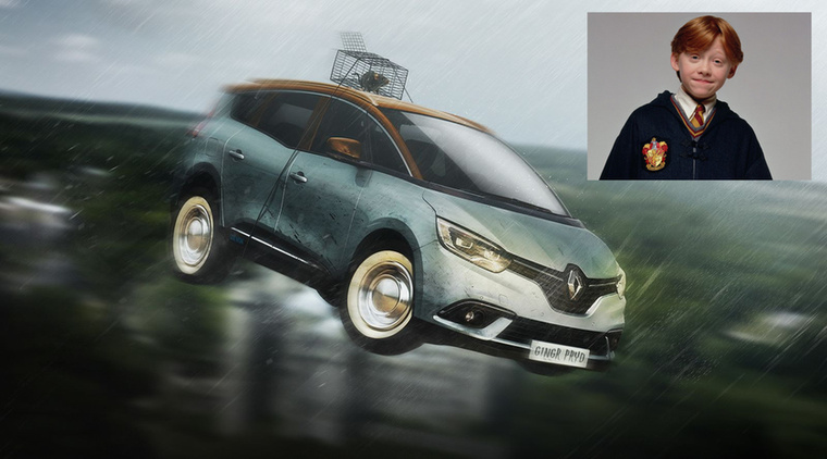 Renault Weasley - Ron Weasley és Renault Grand Scénic Forrás: carwow