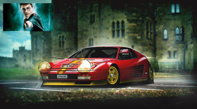 Ferharry Testapotter Harry Potter és a Ferrari Testarossa