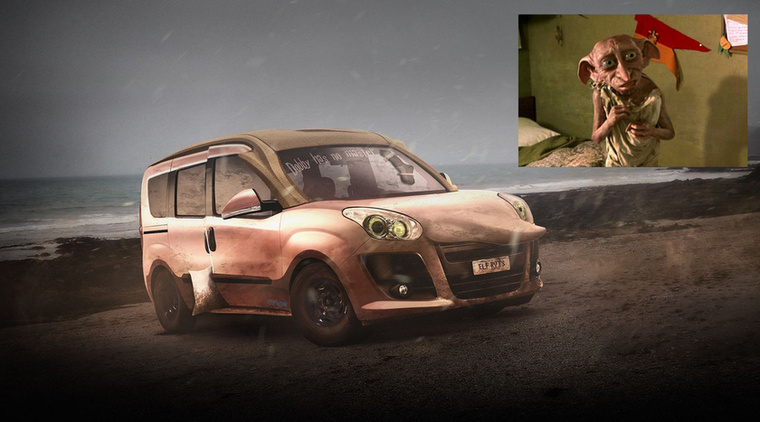 Doblo the House Elf - Dobby, a házi manó és a Fiat Doblo Forrás: carwow