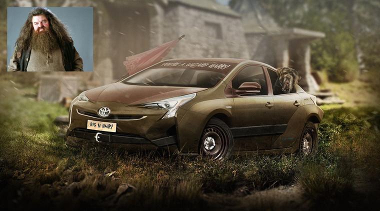 Ruprius Hybrid - Rubeus Hagrid és a Toyota Prius Forrás: carwow