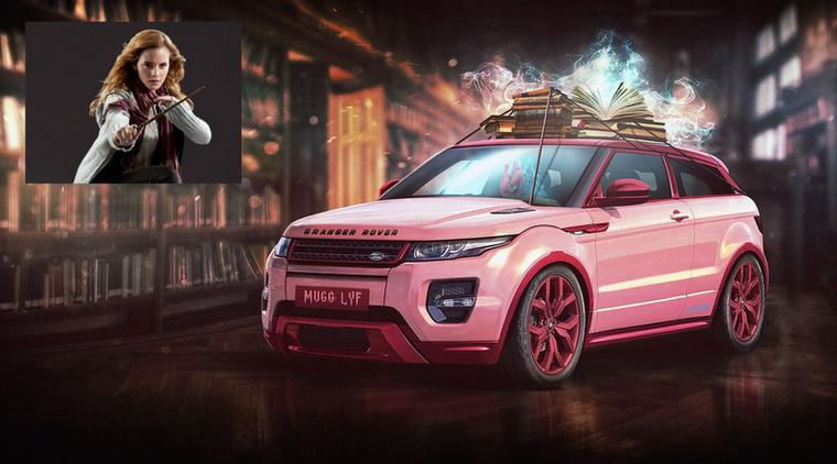 Granger Rover - Hermione Granger és a Range Rover Evoque Forrás: carwow