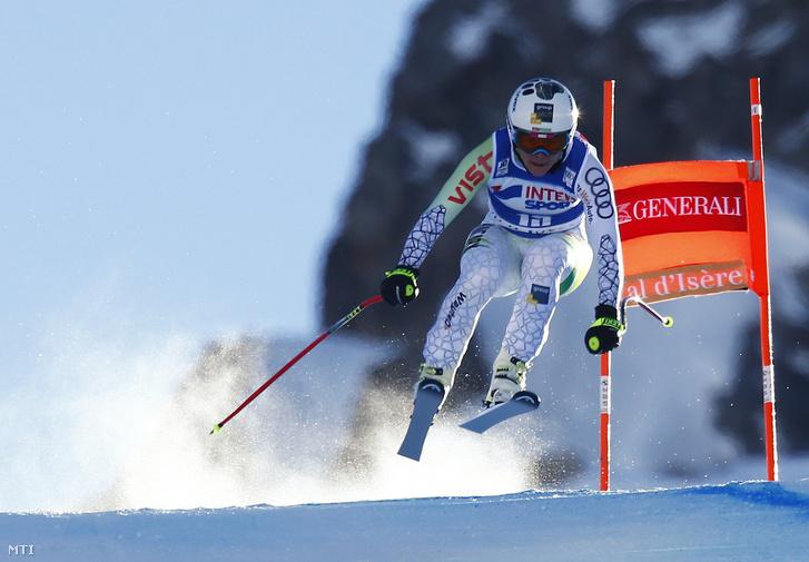 Miklós Edit a nõi alpesi sí világkupa Val d'Isere -i versenyének 2016. december 17-én