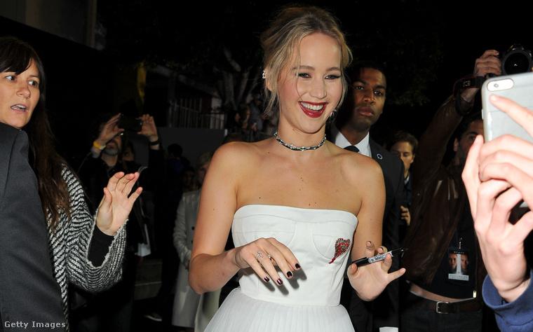 Jennifer Lawrence a Los Angeles-i premieren szerdán.