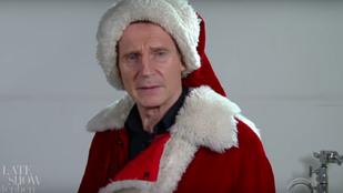 Ha Liam Neeson Mikulásnak állna, minden gyerek kiszaladna a világból