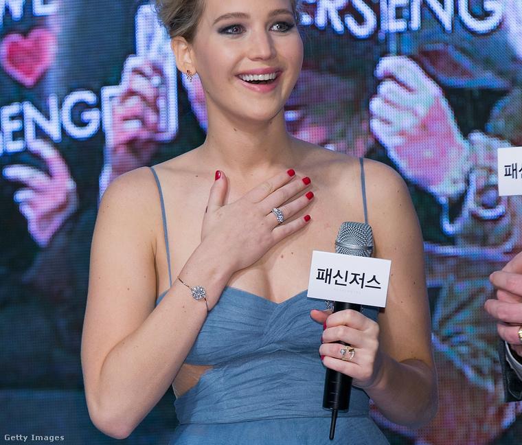 Jennifer Lawrence a szöuli filmpremieren.
