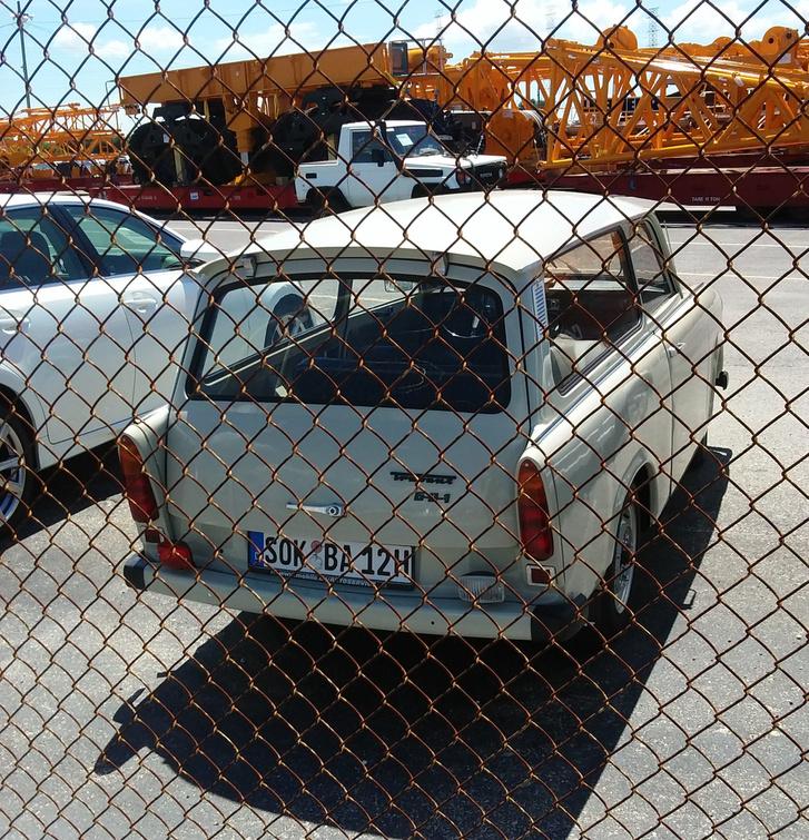 Egy Németországból érkezett Trabant Jacksonville-ben