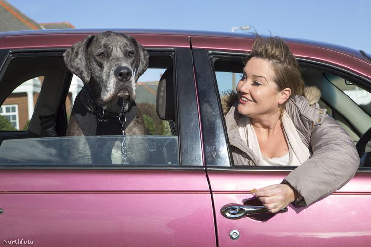 Claire sem az a hétköznapi taxis: ezzel a barbirózsaszín autóval fuvarozza az embereket az angliai kisvárosban.