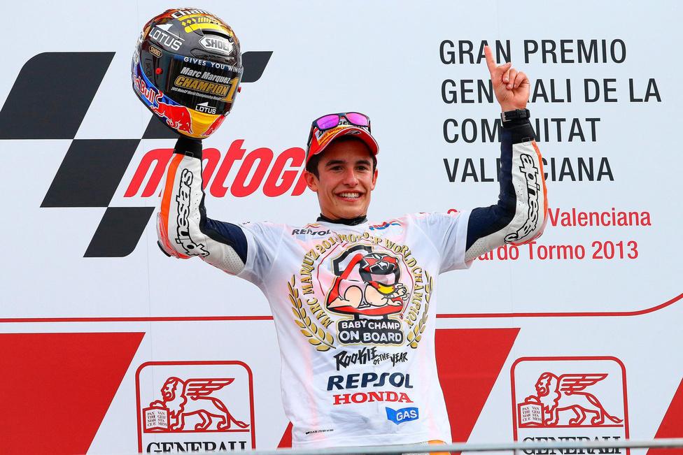 Bár a gyártói címet 2012-ben is hozták, egyéniben volt egy év kihagyás. 2013-ban aztán jött a húszéves Marc Márquez, és a Moto2 után a GP-t is megnyerte. Újoncként előtte 1978-ban Kenny Roberts tudott győzni, három különböző kategóriában pedig Márquez előtt csak Mike Hailwood, Phil Read és Valentino Rossi ünnepelhetett
