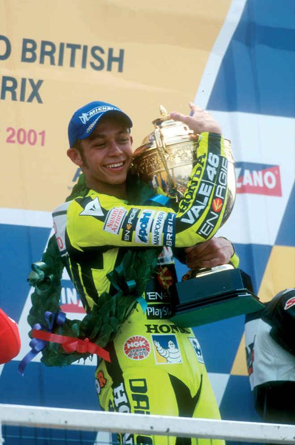 ...majd 2001-ben jött Valentino Rossi