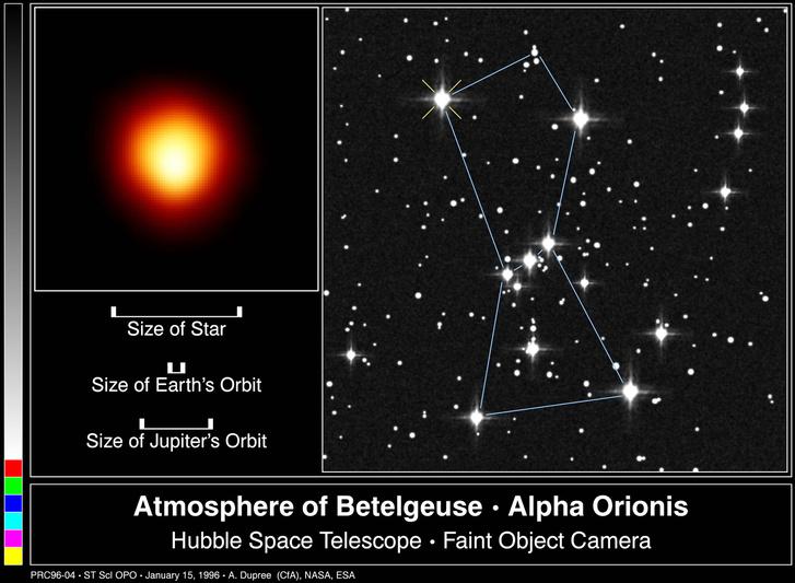 A Betelgeuse a Hubble képén