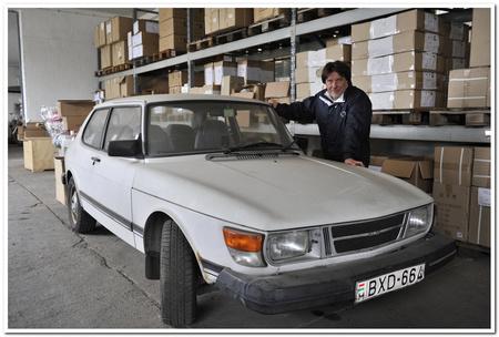 Gruber Attila és Saab 99 autója