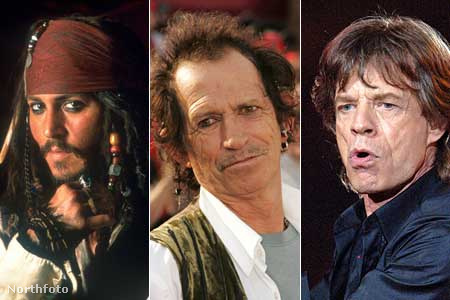 Johnny Depp, Keith Richards és Mick Jagger