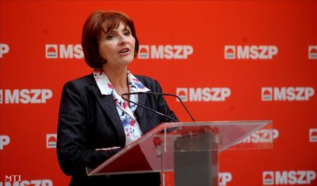 Lendvai Ildikó, a Magyar Szocialista Párt (MSZP) leköszönő elnöke