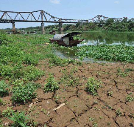 Szárazság a Vörös-folyó mentén, Vietnamban, 2010 áprilisában (Fotó: Hoang Dinh Nam)