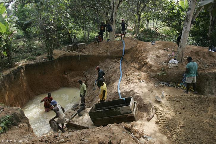 Sierra Leone-i gyémántbányászok