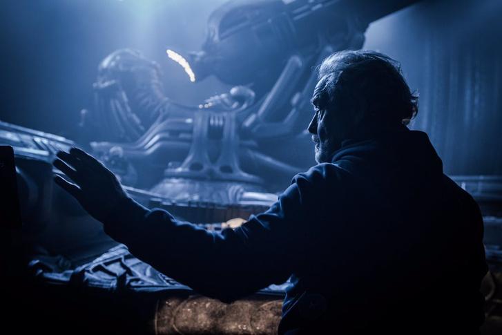 Ridley Scott a forgatáson