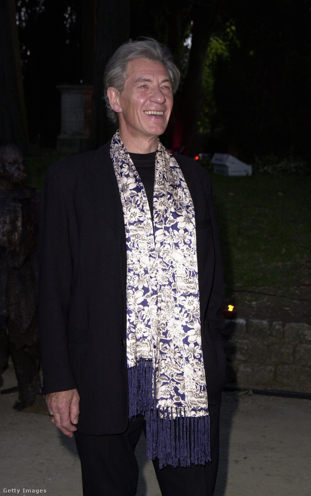 Így nézett ki az őt alakító Ian McKellen 2001-ben, a bemutató idején