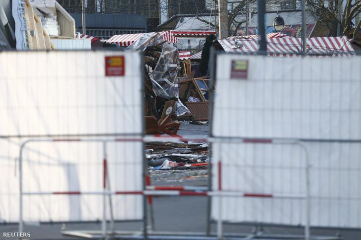 A merénylet helyszíne Berlinben 2016. december 21-én