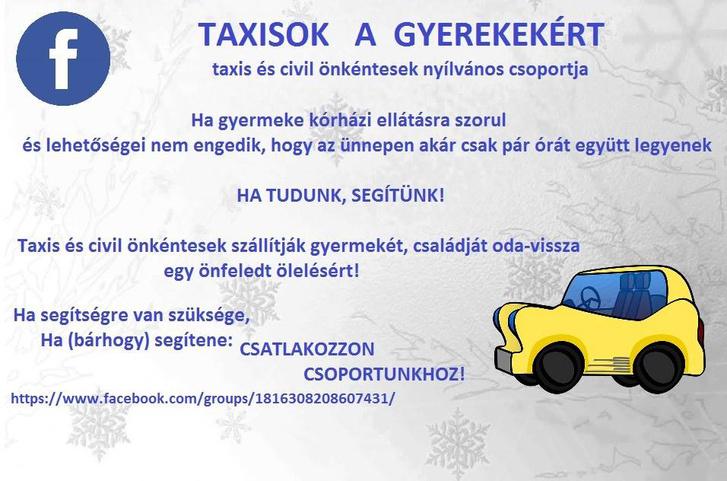 taxisok a gyerekekért