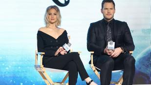 Jennifer Lawrence és Chris Pratt inkább félbehagyott egy interjút