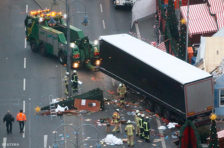 A berlini karácsonyi vásár, a támadás helyszíne 2016. december 20-án
