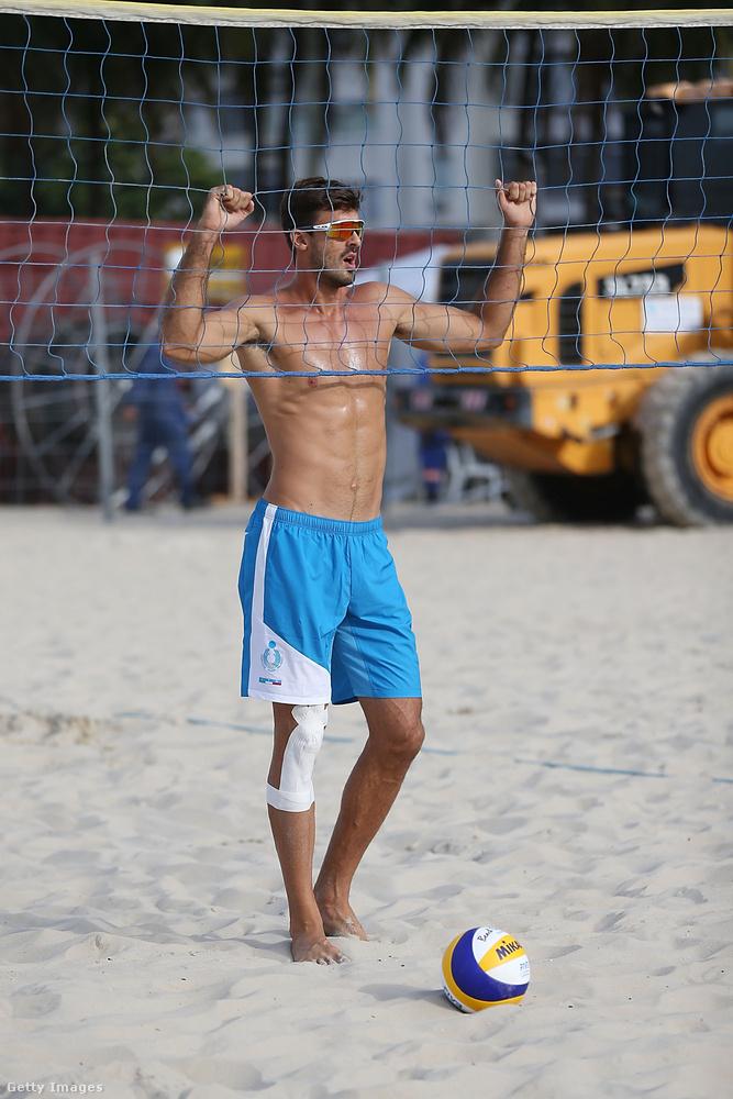 Alex Ranghieri olasz röplabdázó Rióban, nem sokkal az olimpia hivatalos kezdete előtt.