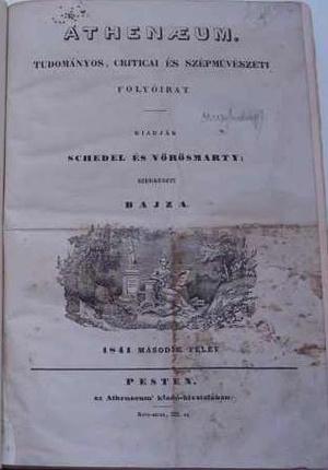 Az Athenaeum 1841. évi második száma