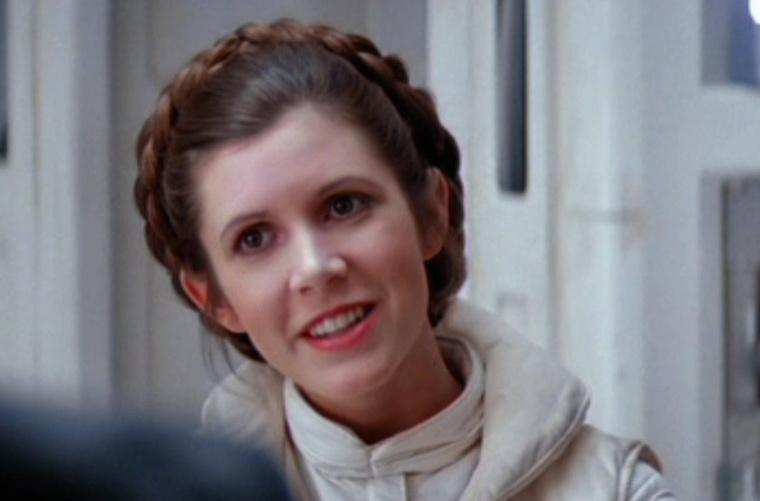 Carrie Fisher Leia hercegnőként.