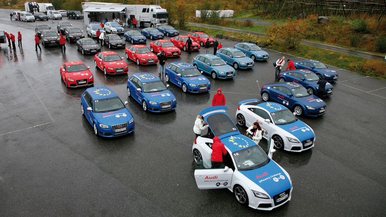 Eljutni A-ból B-be? 2009-ben az Audi Efficiency Challenge a norvégiai Å-ból rajtolt és az olaszországi Bée-ben ért célba