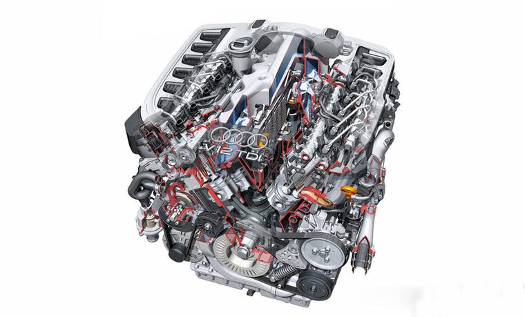 Tizenkét henger, V-elrendezésben: a 6,0 TDI a legerősebb dízelmotor volt 2008-ban, amit egy SUV megkapott - a Q7-ről van szó