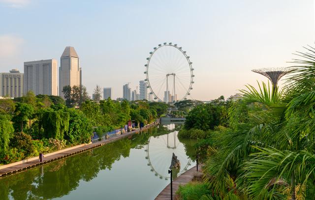 Szingapúri látkép – adnak a zöldre