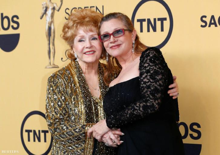 Debbie Reynolds és Carrie Fisher 2015-ben