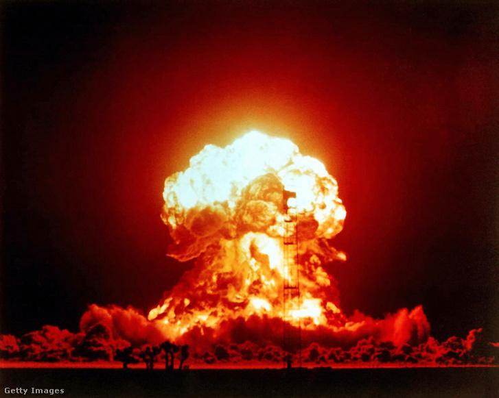 A Priscilla atomrobbantás teszt 1957-ben.