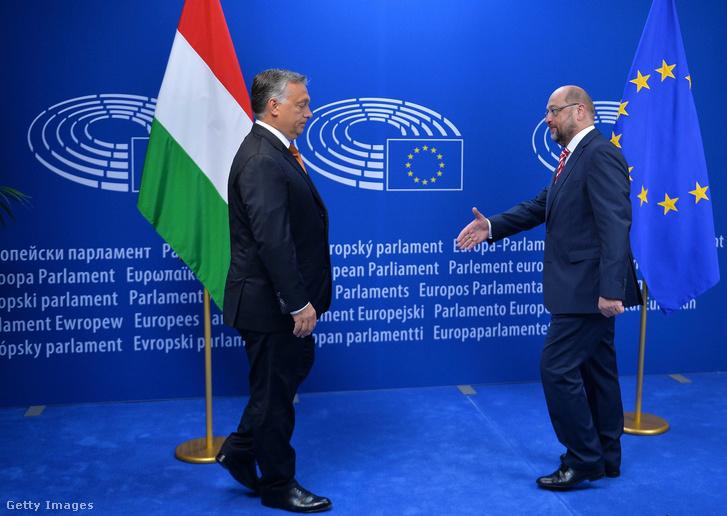 Orbán Viktor és Martin Schulz