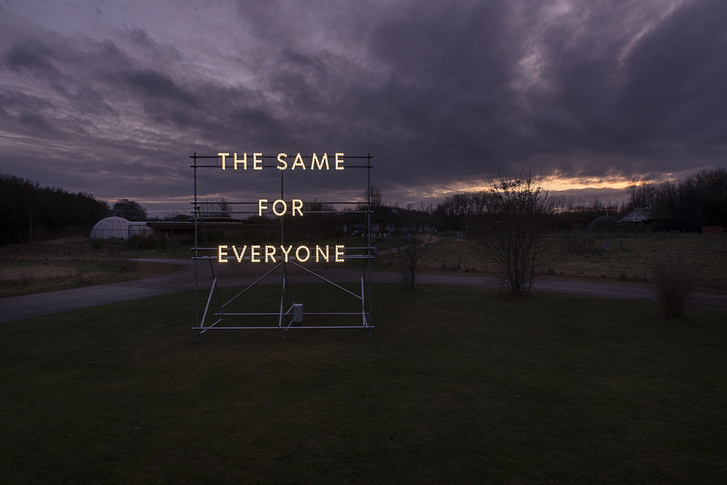 Nathan Coley: The Same For Everyone (Dánia,Syddjurs)