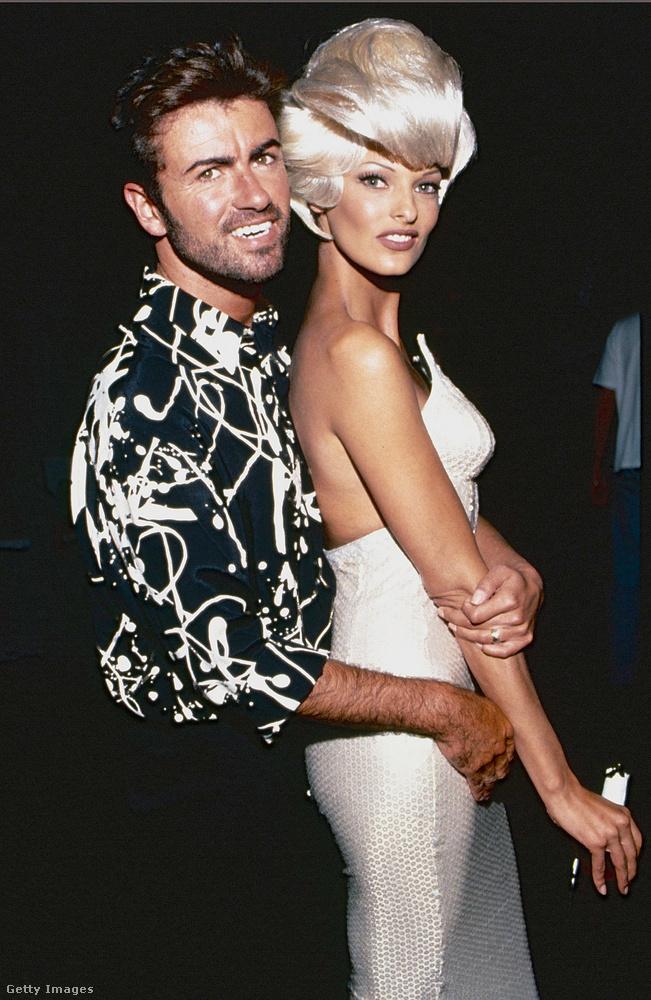 George Michael a legtöbbet Linda Evangelistával pózolt.