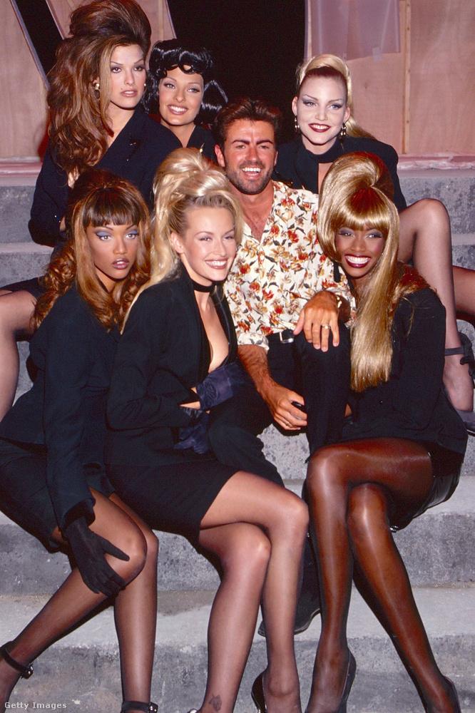 A klipben a következő modellek szerepeltek, a bal felső sarokból indulva: Shana Zadrick, Linda Evangelista és Nadia Auermann