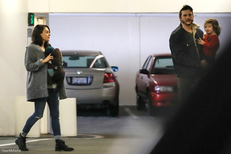 December elején született meg Mila Kunis és Ashton Kutcher második gyereke, így a következő hónapokban valószínűleg az is érdekes lesz, ha a család elmegy sétálni.