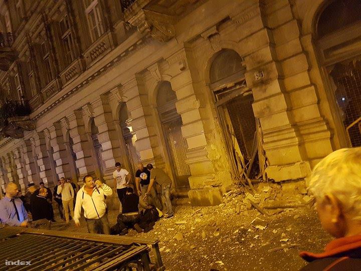 A robbantás helyszíne 2015. szeptember 25-én