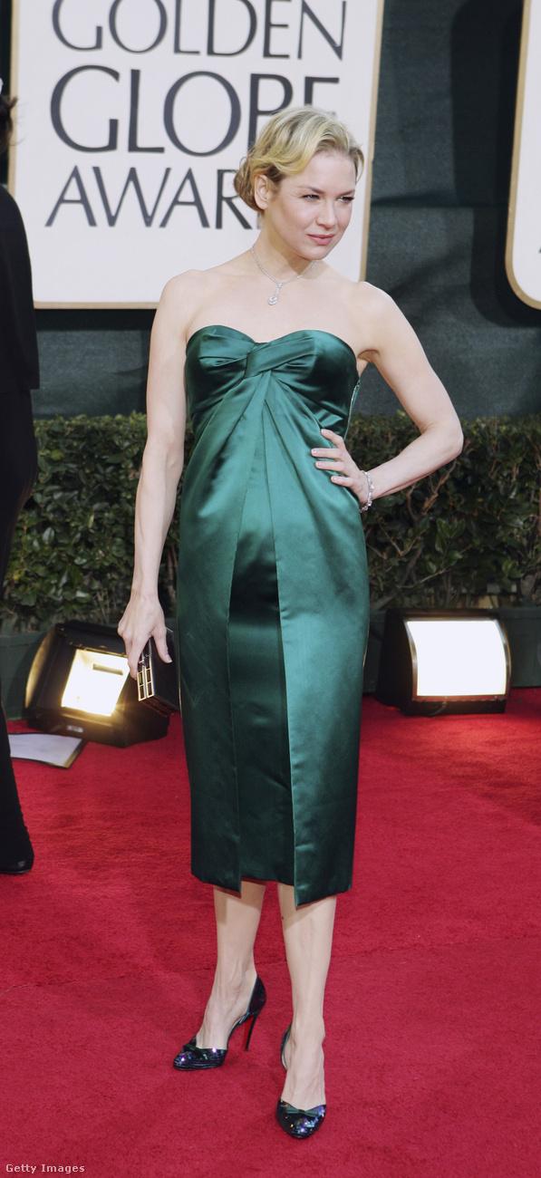 Renee Zellweger is megérkezett a Golden Globe díjátadóra.