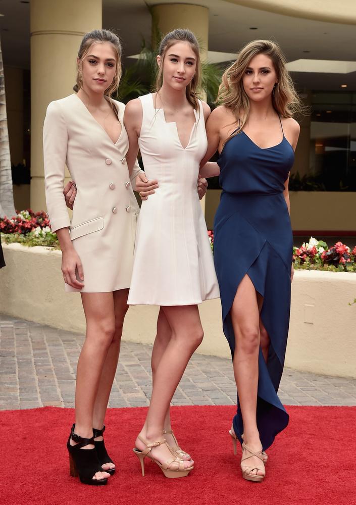 Balról jobbra: a 18 éves Sistine, a 14 éves Scarlet és a 20 éves Sophia Stallone
