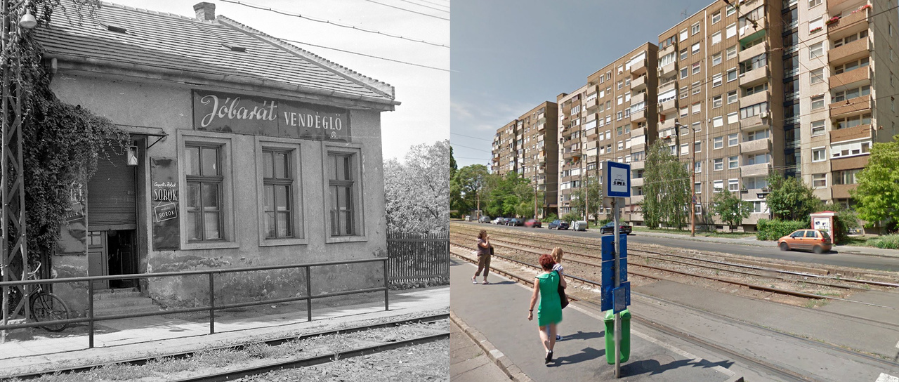 Megfejtés: Budapest XI. Fehérvári út, Jóbarát vendéglő (ekkor 193. számú ház, ma a 183-189. számú háztömb áll a helyén).