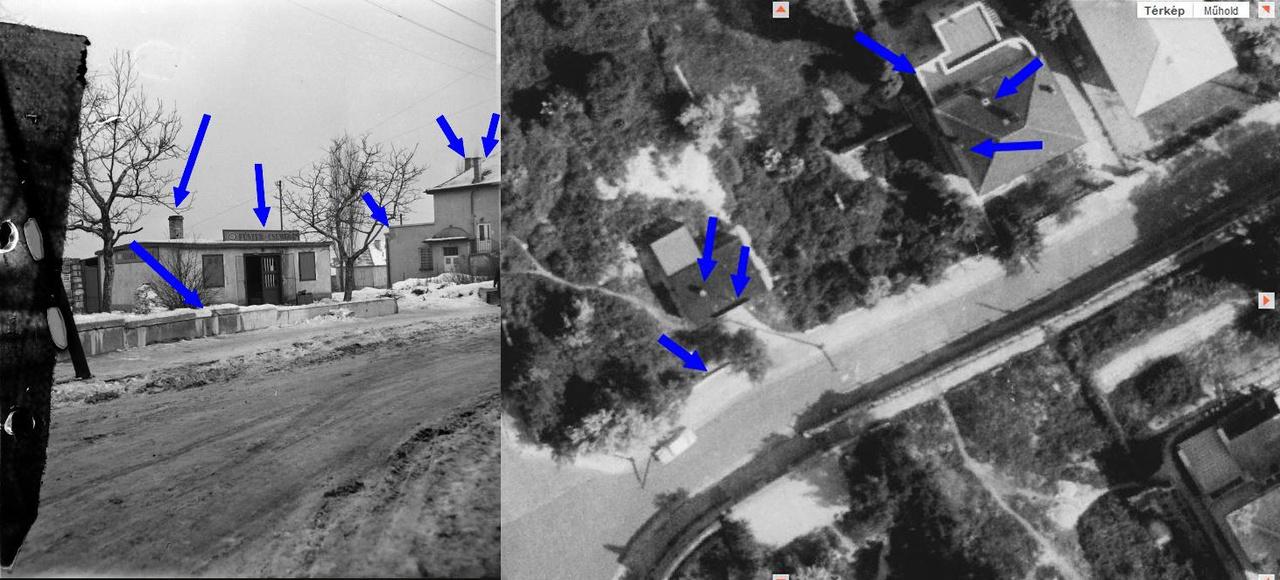 Olvasónk egy 1940-es légi fotó alapján, a kémények állásából azonosította be az épületet