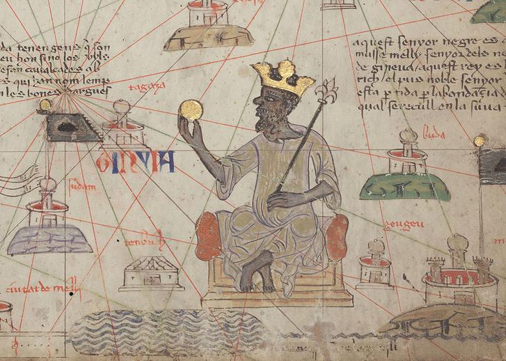 Catalan Atlas BNF Sheet 6 Mansa Musa
