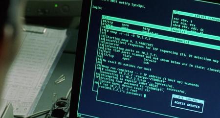 A Matrix Reloaded-ban Trinity egy valós exploitot használva jut be a rendszerbe